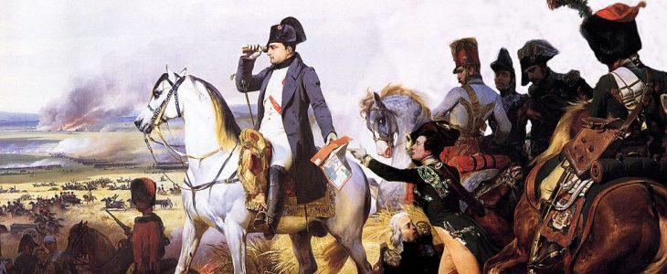 Bild von Napoleon in der Schlacht von Wagram