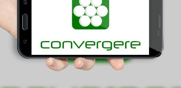 Convergere Logo auf Smartphone-Bildschirm